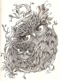 mother owl with her baby tattooMore Pins Like This One At FOSTERGINGER @ PINTEREST No Pin Limitsでこのようなピンがいっぱいになるピンの限界