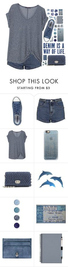 """""""2215 // F o r n a x"""" by arierrefatir ❤ liked on Polyvore featuring Converse, Topshop, Violeta by Mango, Casetify, Miu Miu, Terre Mère, House Doctor and Alexander McQueen"""