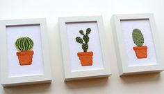 Cactus Cross Stitch Pattern by TheStrandedStitch on Etsy