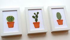 Cactus Cross Stitch Pattern by TheStrandedStitch on Etsy