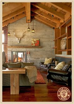 High Camp Home contemporary rustic style.  Sunset Home Furniture Package - See more of our Furniture Packages at http://www.highcamphome.com/interior-design/?sel=SunsetHome