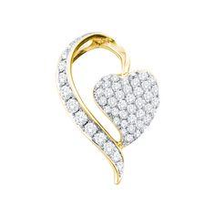 14k Yellow Gold 0.75Ctw Diamond Fashion Pendant Pendant