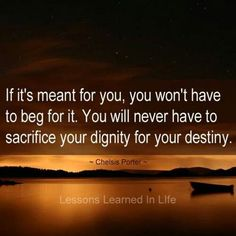 If it's meant for you...