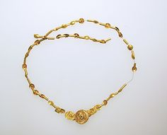 Gold Necklace, Etruscan; 7th-5th c.b.c.