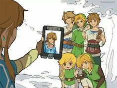 Twilight Princess Link: Oldest (18). Moody, dark, artistic. Breath of the Wilds Link: Second oldest (16). Responsible, Skyward Sword Link: (14) Ocarina of Time Link: (14) Link Between Worlds Link: (10) Wind Waker Link: Youngest (6). Cheerful, playful, giddy.