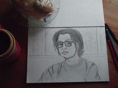 Me in pencil sketch