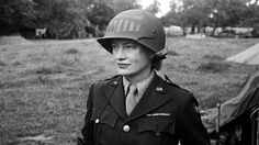 Lee Miller in steel helmet specially designed for using a camera, Normandy, France 1944 by unknown photographer Photographer Unknown (c) The Penrose Collection. All rights reserved. Lee Miller's Stunning Images of Women During World War II Lee Miller, Man Ray, Fotojournalismus, Vogue Models, Karen Elson, Edward Steichen, Female Photographers, Female Images, Photojournalism