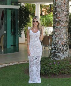vestido de noiva simples croche