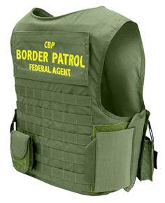 U.S. Armor | USBP - United States Border Patrol - Ranger Original (Back) | Custom Fit Body Armor | You'll Wear It! | www.usarmor.com