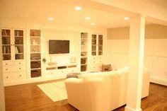 a basement update tour, basement ideas, home decor, IKEA built in wall