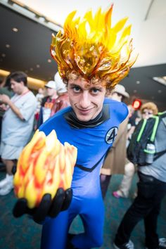 The Human Torch, Fantastic Four, from San Diego Comic Con 2014.