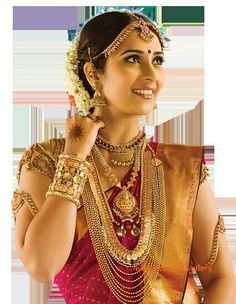 Lovely Golden & Red Colored #BridalSaree