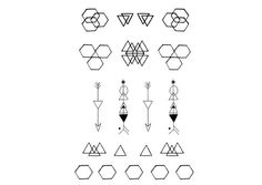 Minimal Geometric Tattoos by DrawAbidingCitizen on Etsy, £4.00