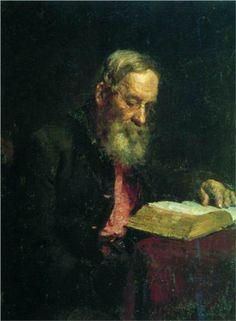 Portrait of Efim Repin, the Artist's Father  - Ilya Repin