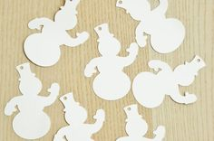 Snowman card stock tags  Pick your colors. by ThePaperPugs on Etsy
