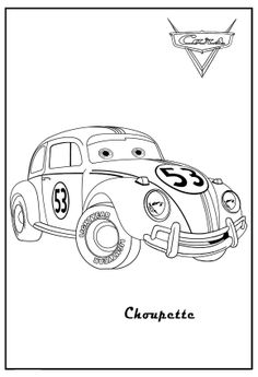 cars 2 printable coloring pages cars coloring herbie choupette cars coloring guido cars coloring - Cars 2 Printable Coloring Pages