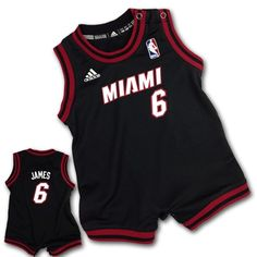 a482ef296 nba  adidas lebron james  boy miami heat infant replica jersey romper size  24m from