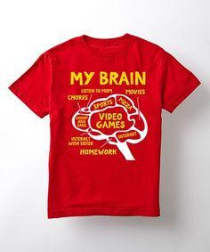 Love this Red 'My Brain' Tee - Kids on #zulily! #zulilyfinds