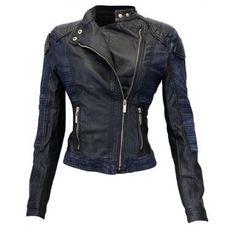 Enimay Women's Slim Fitted Fashion Biker Leather Celebrity Jacket    Jacket Features:    Outfit type:Denim AndLeather Jacket  Gender: Female  Color: Black  Front: Front Zip Closure  Collar: ShirtCollar  Pockets: Two pockets