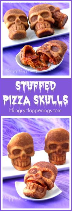 his Halloween freak out your friends and family by serving them some Stuffed Pizza Skulls. They are really easy to make yet look so amazingly cool that no one will realize they took minutes to make.