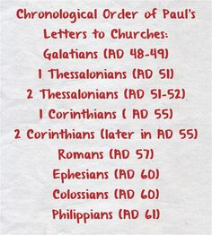 timeline of Paul's Epistles - Google Search