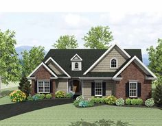 Eplans Ranch House Plan - Awesome Ranch - 1784 Square Feet and 2 Bedrooms(s) from Eplans - House Plan Code HWEPL75220