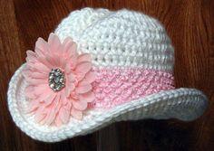 crochet deer hat pattern free | Cowgirl Hat PDF pattern by Easy Creations on…