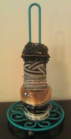 Painted paper towel holder turned bracelet holder! GREAT IDEA!!!