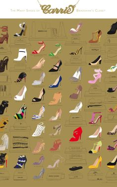 An Illustrated Guide To Carrie Bradshaw's Shoes   Co.Design   business + design