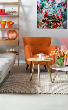 Charmant Orange Mid Century Modern Armchair | Happy Mid Century Modern Furniture