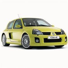 2003 Renault Clio - Campus V6 yellow car