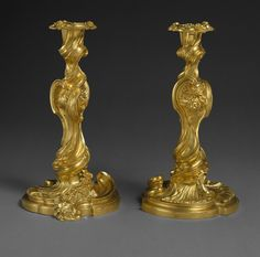 Put these on the dresser or something...i don't know...they will give the room an air of elegance!  Candlesticks, 1735–50  French (Paris)  Gilt bronze