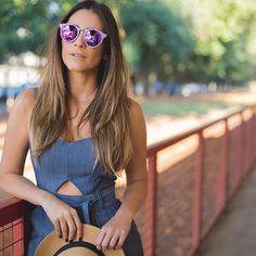 """ᗷOᗰ ᗪIᗩᗩᗩᗩ! Apaixonada por esse óculos da @illesteva para @pitangaoficial.  ph: @janainaalexandrina"""