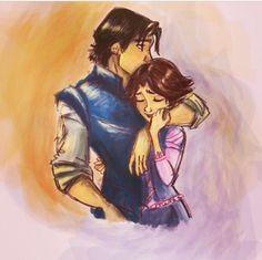 Tangled fan art~ Rapunzel and Flynn