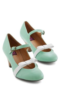 Nothing Short of Sweet Heel in Mint. These Mary Jane heels by Mojo Moxy are anything but ordinary! #mint #wedding #modcloth