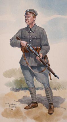 Legionnaire of the Polish legions, 1914 Army Uniform, Military Uniforms, Army Gears, Russian Revolution, World War One, Military Art, Armed Forces, Dieselpunk, Herb