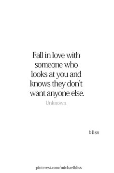☆Fall in love with someone who looks at you and knows they don't want anyone else. Cute Quotes, Great Quotes, Quotes To Live By, That One Person Quotes, Relationship Quotes, Relationships Love, Look At You, Love You, Motivational Quotes