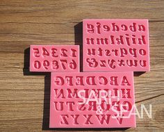 letter and number fondant mold candy molds by treeandgrass on etsy 1299
