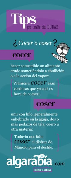 ¿Cocer o coser? #tip #lengua #español