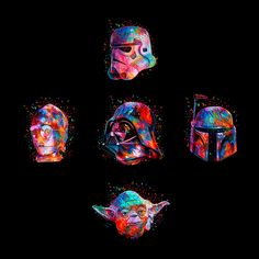 Abstract Color Star Wars Posters by Alessandro Pautasso