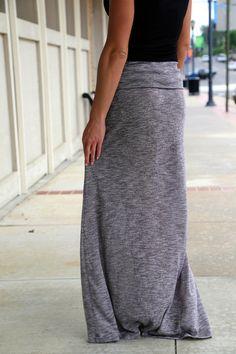 Heather Gray Maxi Skirt