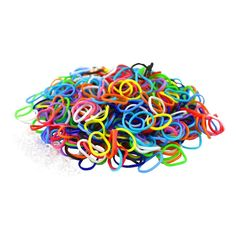 """Colorful Silicone LOOM BANDS - 600 Bands & 25 """"S"""" Clips!: Latex-Free Silicone Rubber Loom Bands Can Make Up To 24 Loom Bracelets Promotes Creative Thinking! Works With All Major Brand Looms & Accessories Includes 600 Pieces & 25 S Hooks Rainbow Loom Bands, Rainbow Loom Bracelets, Crafts For Girls, Gifts For Kids, Arts And Crafts, Kid Crafts, Fun Loom, Rubber Band Bracelet, Rubber Bands"""