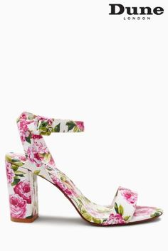 Buy Dune White Floral Marygold Two Part Sandal from the Next UK online shop