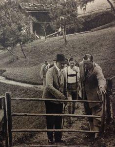 """madchenfurwolf: """"Hill folk? """" Haha,yes. That's Baldur Benedikt von Schirach in the lederhosen behind Adolf"""