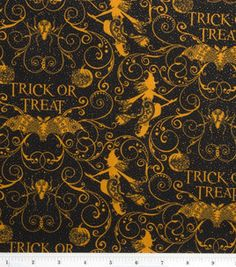 Holday Inspirations-Gothic Trick Or Treat with Glitter : holiday fabric : fabric :  Shop | Joann.com