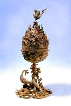 Baekje Incense Burner (National Museum of Korea) History Of Buddhism, Ancient History, Han River, Sculptures, Lion Sculpture, World Festival, Korean Art, National Museum, Bronze