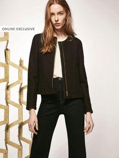 Blousons pour femme   Massimo Dutti Mode Femme, Veste, Tissu En Laine  Bouillie, c6da70a17845