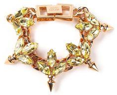 Mawi crystal leaf ID bracelet on shopstyle.com