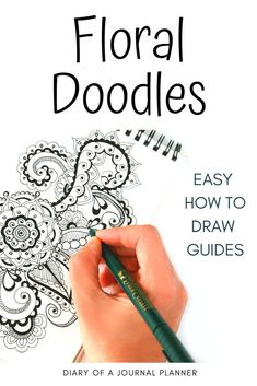 Try these easy floral doodles! So many different types of flower drawings to try. Anyone can draw with these easy doodles and step-by-step drawing guides. Flower Drawing Tutorials, Flower Drawings, Drawing Ideas, Flower Drawing Tutorial Step By Step, Doodle Art Designs, Doodle Patterns, Tangle Patterns, Doodle Drawings, Easy Drawings