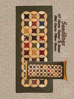 Seedlings Charm & Mini Charm Runner & Pillow Sleeve by Kansas Troubles Quilters featuring KT Melon Template